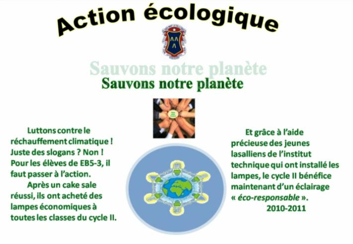 Action Ecologique Classe EB5-3 Collège Mont La Salle