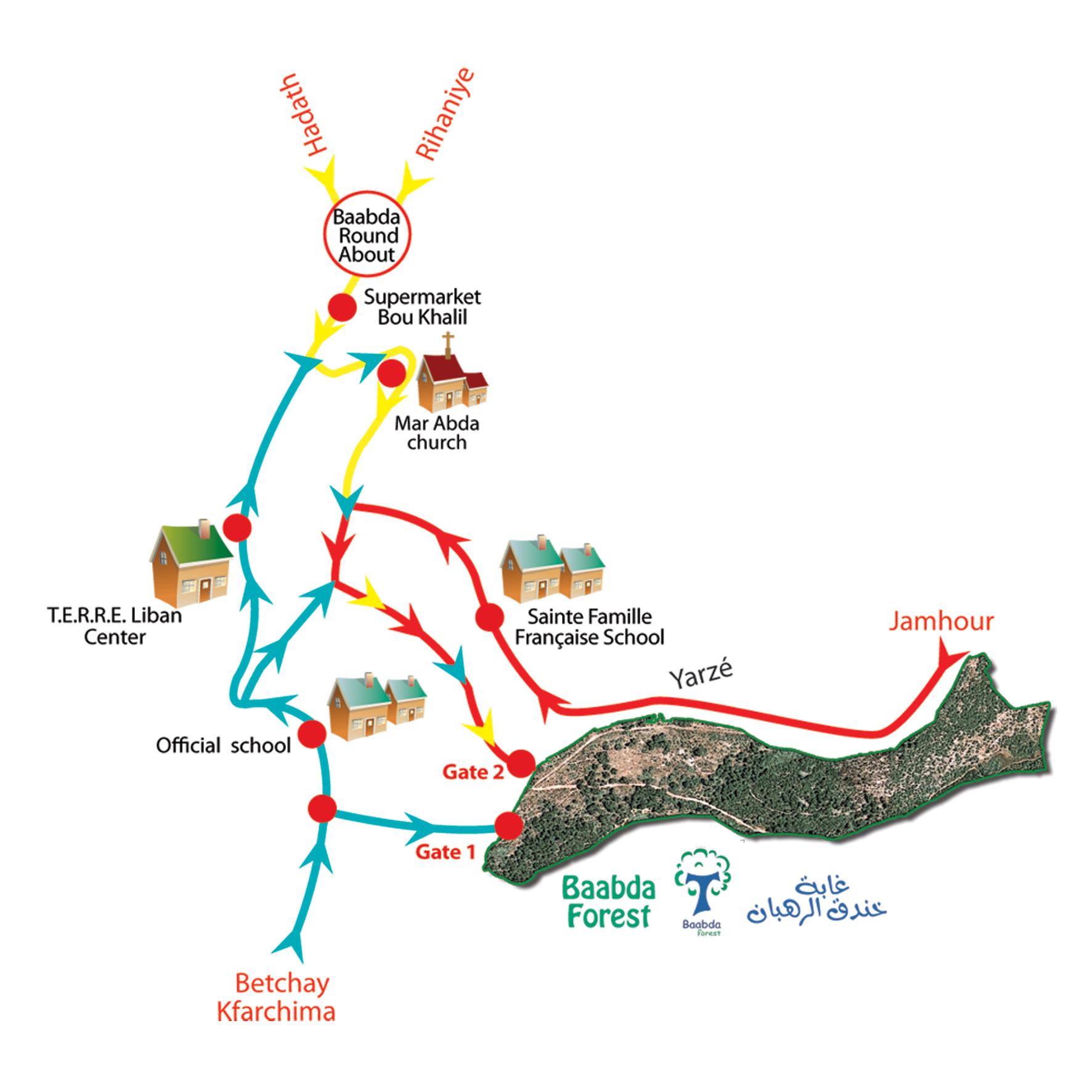 Chemin d'accès à la forêt de Baabda