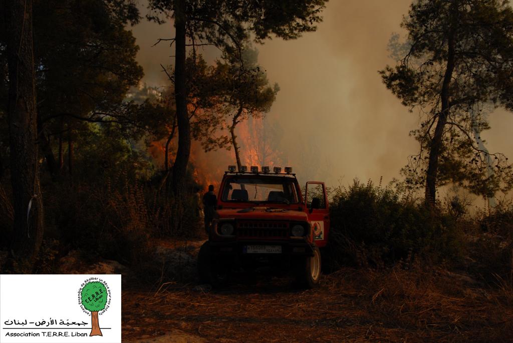 Incendies de la Forêt de Baabda. TERRELiban