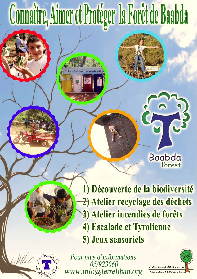 Cliquez sur la Photo pour l'ouvrir - Connaître Aimer et Protéger la forêt de Baabda